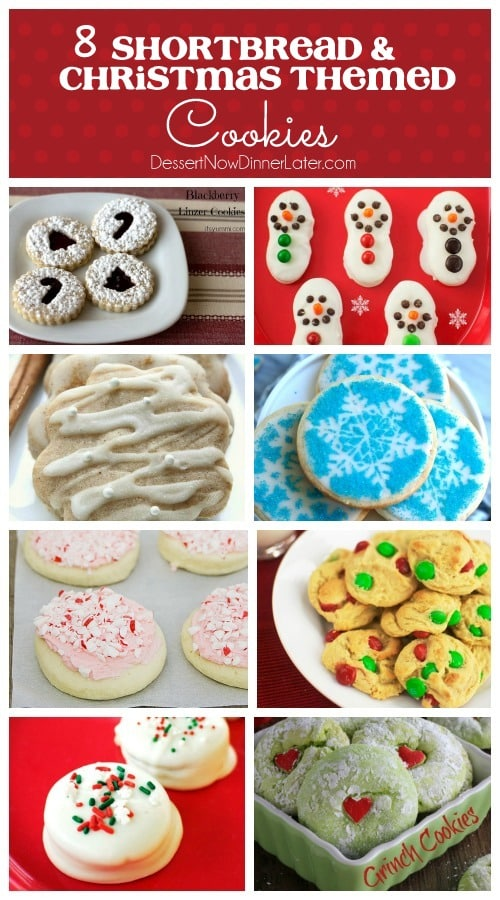 8 Shortbread & Christmas Themed Cookies