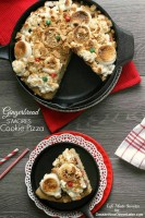 Gingerbread S'mores Cookie Pizza