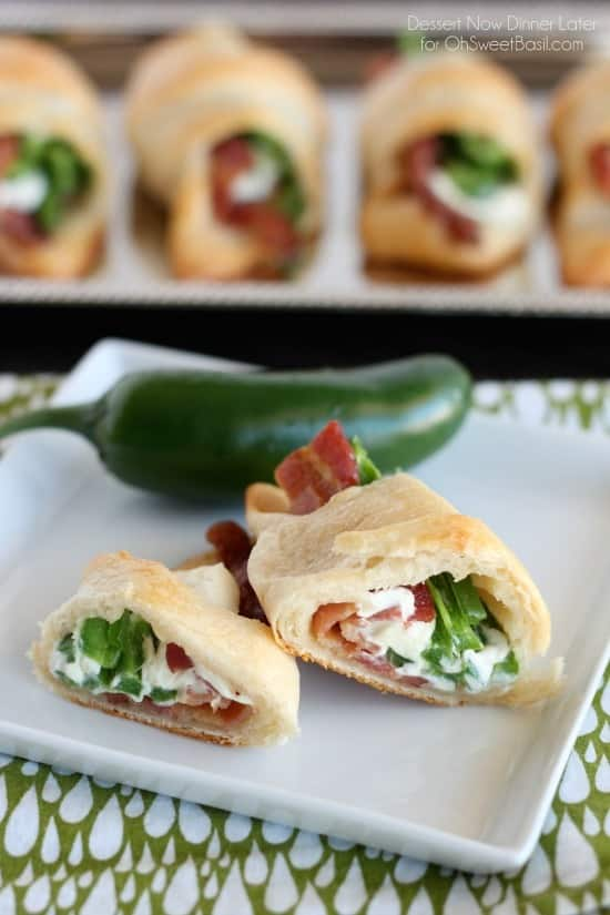 Jalapeno Popper Roll Ups – only 4 ingredients for a tasty snack or appetizer with a kick!