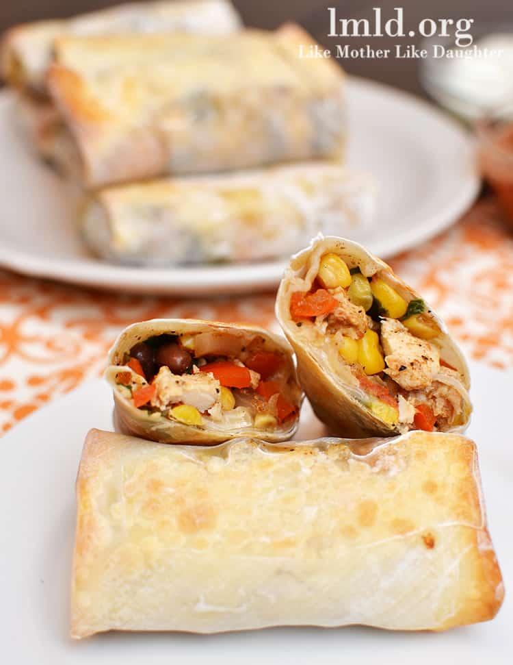 southwest chicken egg rolls