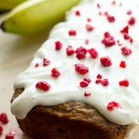 Berry Banana Bread with Cream Cheese Icing