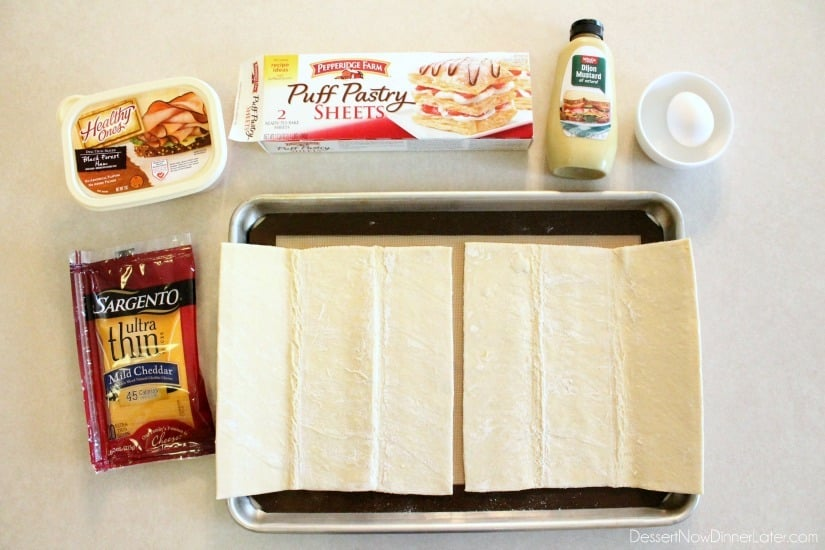 Ham and Cheese Pockets - ingredients
