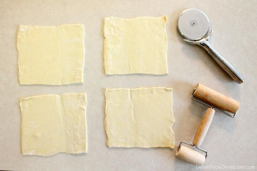 Ham and Cheese Pockets - step 1