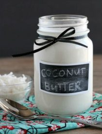 Homemade Coconut Butter is made by pureeing unsweetened shredded coconut into a liquid/paste. It's a superfood that can be eaten as is, used in baking, cooking, or in smoothies, or simply spread on breads, dark chocolate, etc. There are so many ways to enjoy this health food!