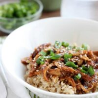 Slow Cooker Chicken Teriyaki cooks while you are away and tastes authentic! A great excuse to have Japanese at home!