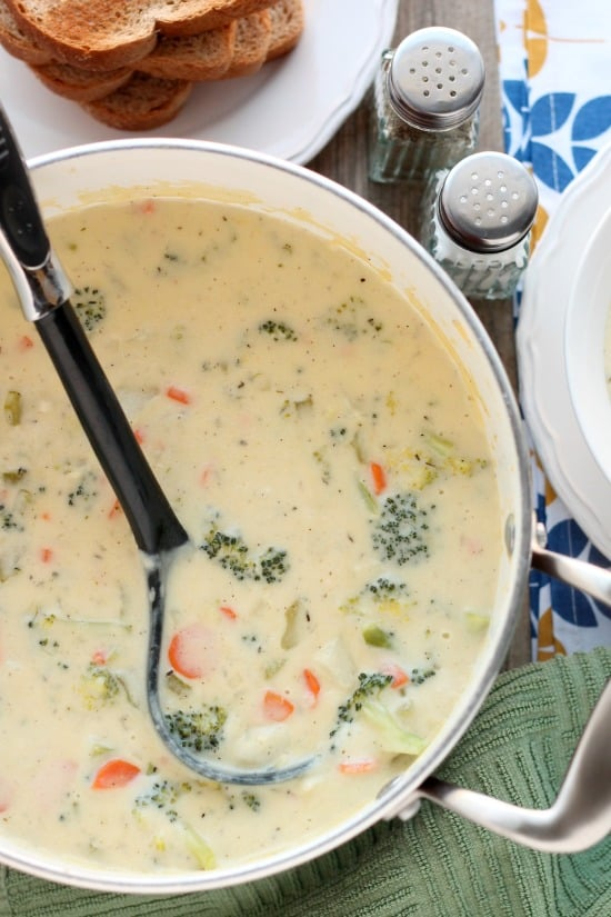 This Vegetable Chowder (also called Broccoli Cheese Potato Soup) is ...