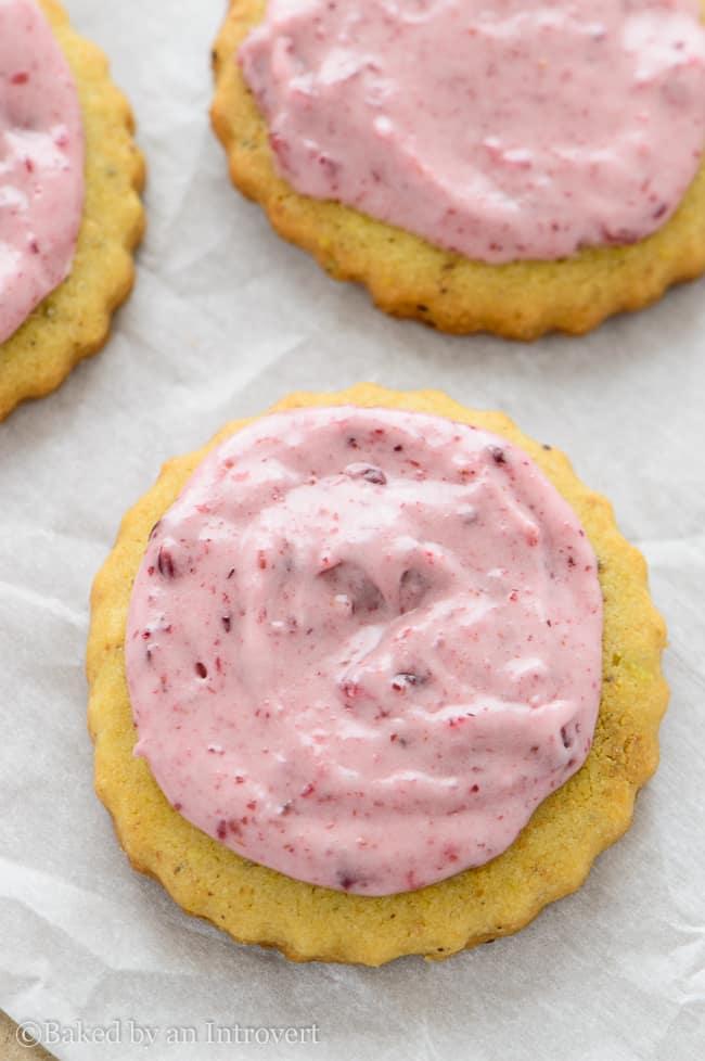 cranberry iced pistachio cookies