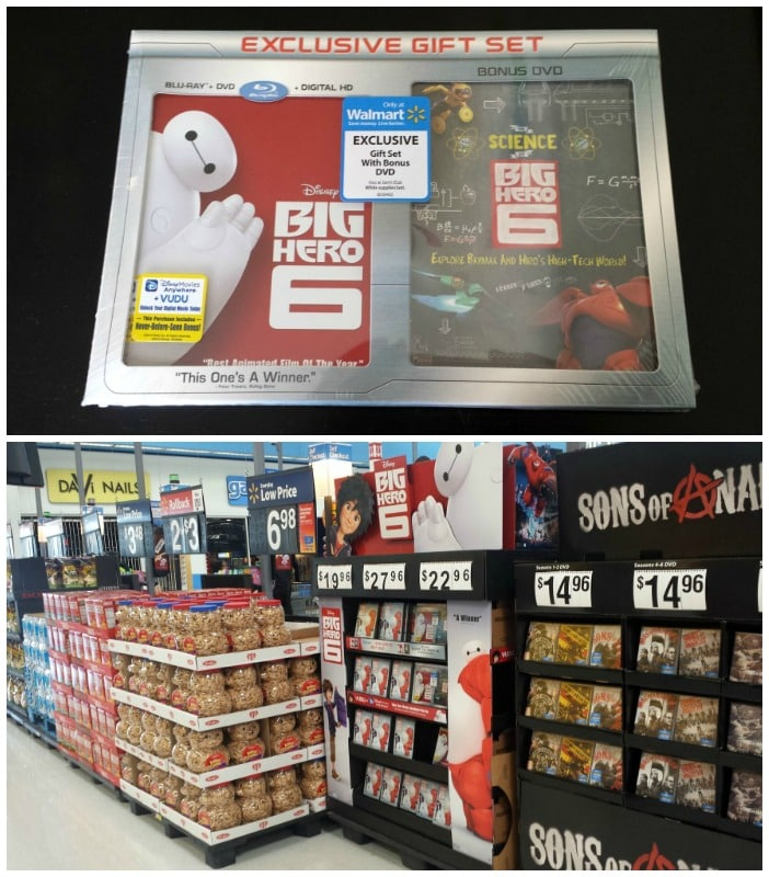 Big Hero 6 display at the front of the store