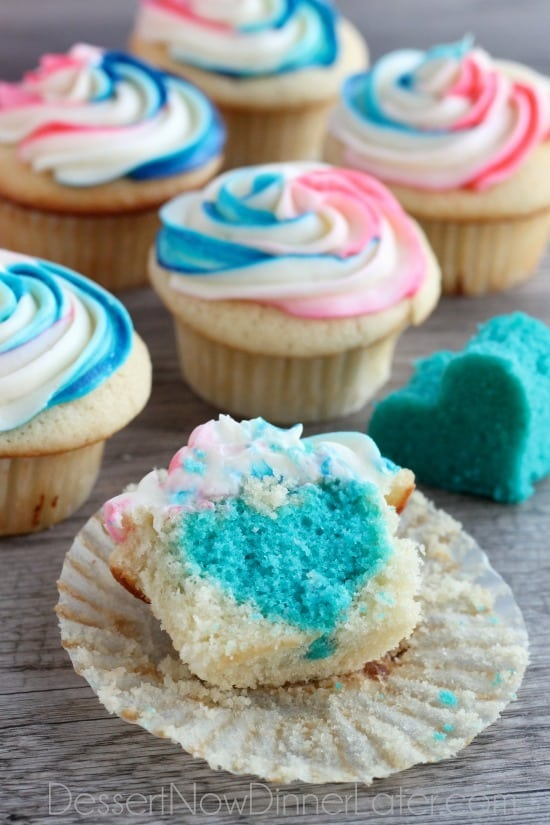 gender reveal cupcakes dessert now dinner later