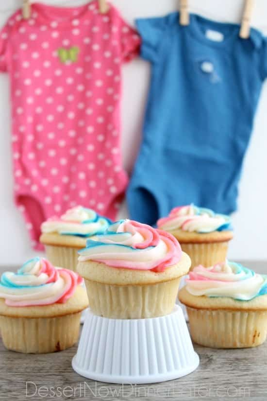 Gender Reveal Cupcakes Dessert Now Dinner Later – Announcing the Gender of the Baby Ideas