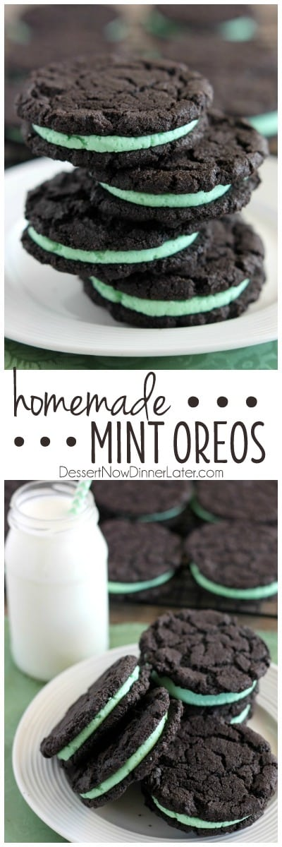 These Homemade Mint Oreos have a simple mint buttercream sandwiched ...