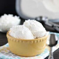 No Churn Coconut Ice Cream