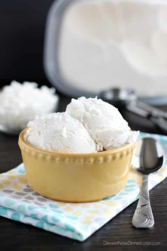 ... to make this creamy, smooth coconut ice cream without a machine