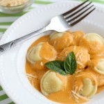 Roasted Red Pepper Ravioli