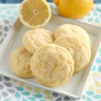 These lemon cookies are soft baked and have plenty of lemon zest, lemon juice, and lemon extract throughout for a delicious lemon treat!