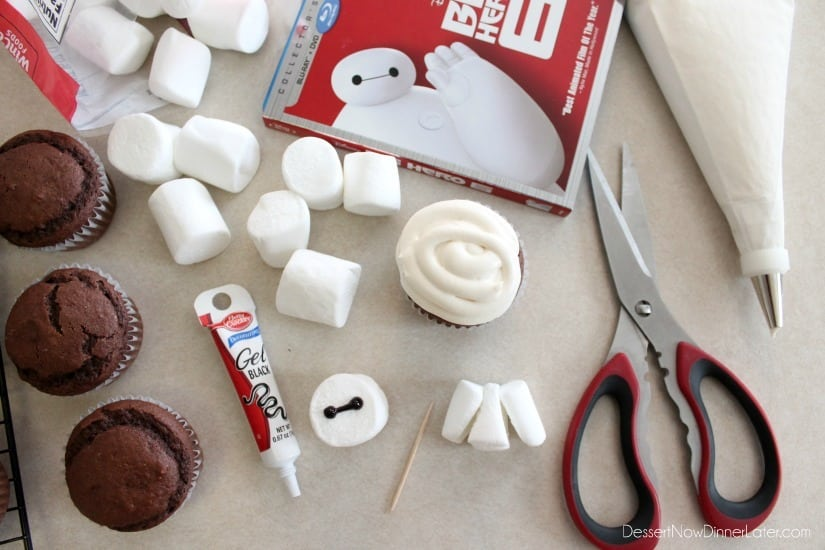 Baymax Cupcake Tutorial {Big Hero 6}