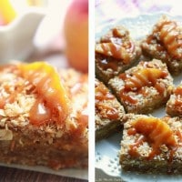 Coconut Peach Streusel Bars