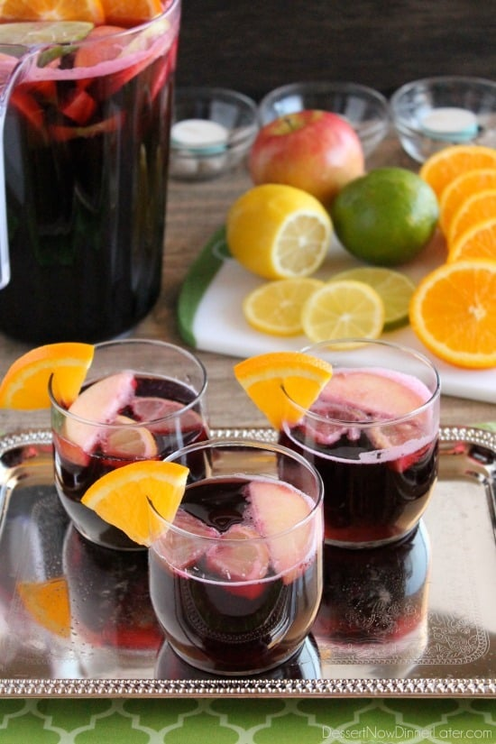 Easy virgin sangria dessert now dinner later for Easy fruity mixed drinks