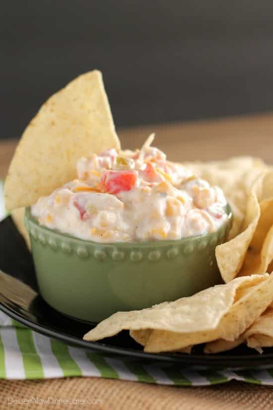 Fiesta Ranch Dip - only 5 ingredients for this spicy-cool party dip.