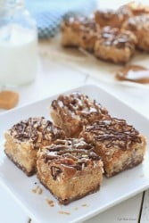 {No-Bake} Samoa Peanut Butter Cereal Bars