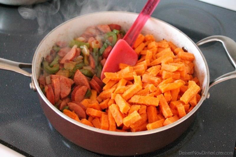 Sausage and Sweet Potato Hash - Tutorial