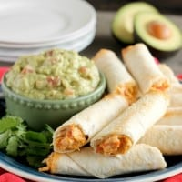 Zesty Baked Chicken Taquitos