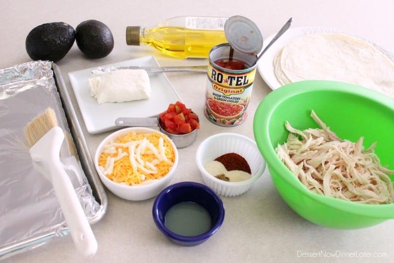 Zesty Baked Chicken Taquitos - ingredients