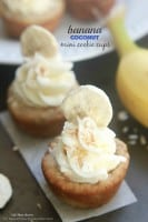 Banana Coconut Mini Cookie Cups
