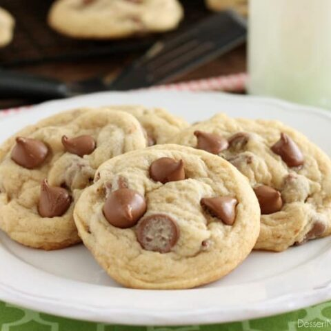 These Soft Baked Chocolate Chip Cookies include a special ingredient to make them perfectly thick, chewy, and soft! Plus tips and techniques for baking the best chocolate chip cookies!