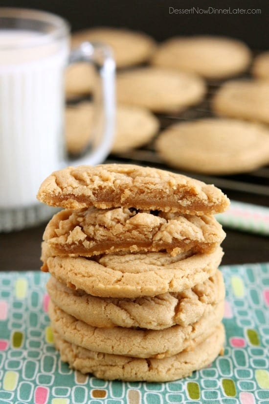 Thick and Chewy Peanut Butter Cookies (+ Video) | Dessert Now, Dinner Later!  Dessert Now, Dinner Later!