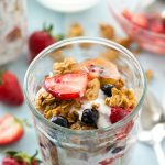 Triple-Berry Granola Parfaits with Whipped Coconut Yogurt