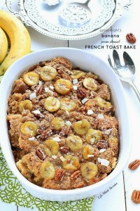 Easy Overnight Banana Pecan Streusel French Toast Bake - from -- -@LifeMadeSweeter
