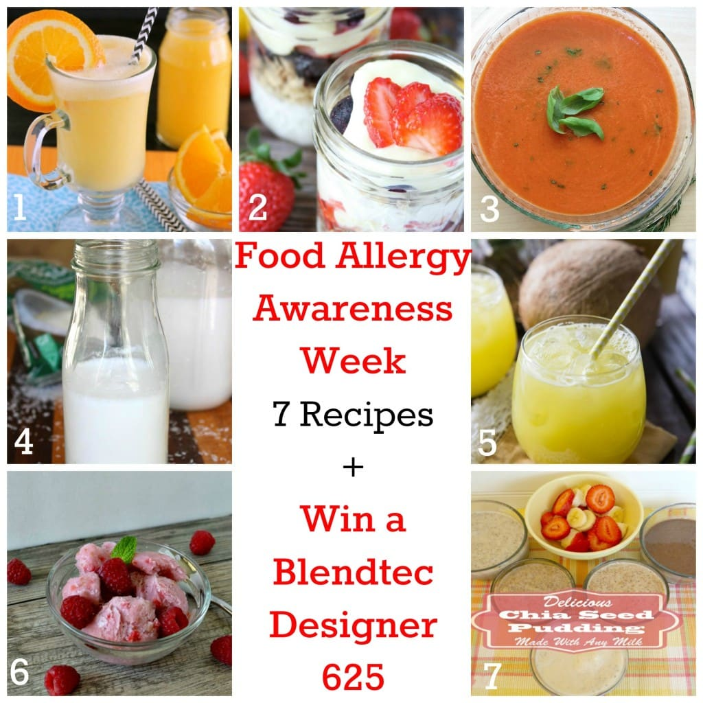 Food Allergy Awareness Week: 7 Recipes + Win a Blendtec Designer 625