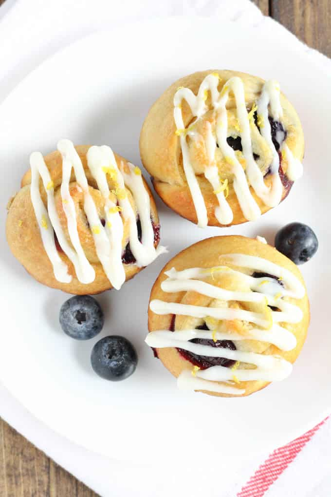 These Lemon Blueberry Sweet Rolls are easy to make and perfect for a quick breakfast or dessert.