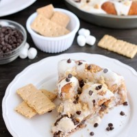 S'mores Cinnamon Roll Cake