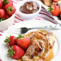 Strawberry & Nutella Stuffed French Toast
