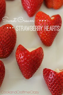 Sweet Cream Strawberry Hearts