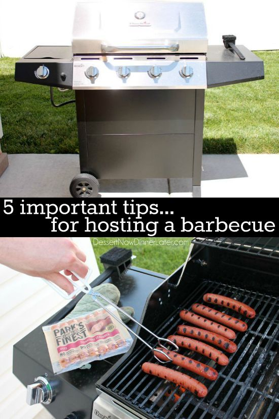 5 Important Tips For Hosting A Barbecue - From the guests to the food. Number 3 is SUPER important!