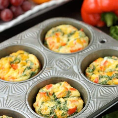 These Breakfast Egg Cups are the perfect go-to breakfast when you are on-the-go! Great for school day mornings and busy schedules.