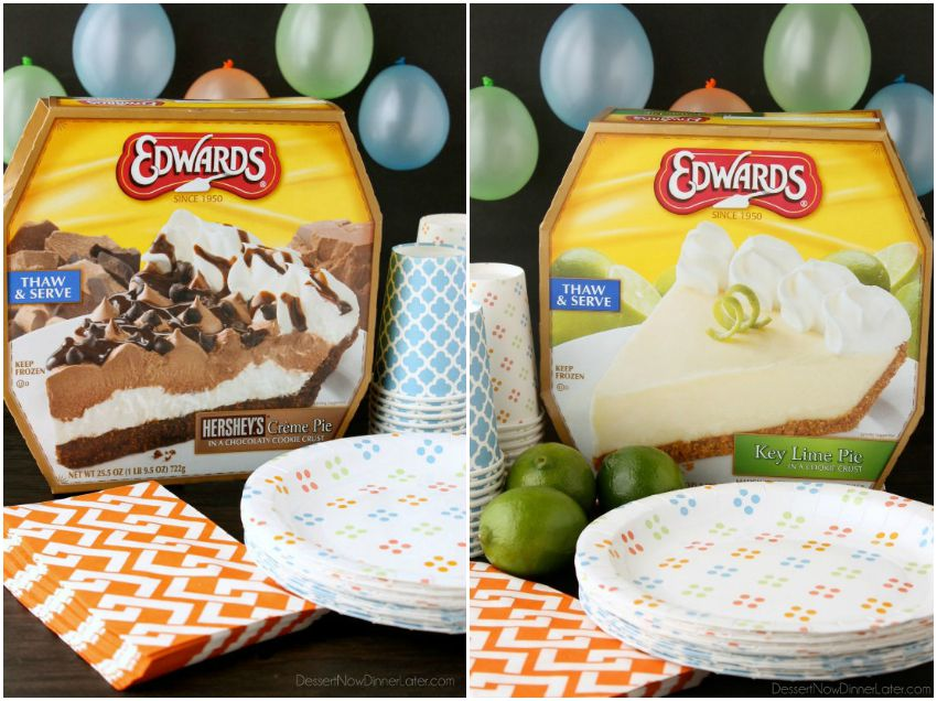 Edwards® HERSHEY'S® Chocolate Crème Pie & EDWARDS® Key Lime Pie