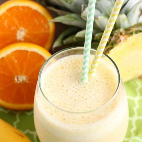 Wake up to this Sunrise Smoothie with bright and refreshing fruits to start your day happy!
