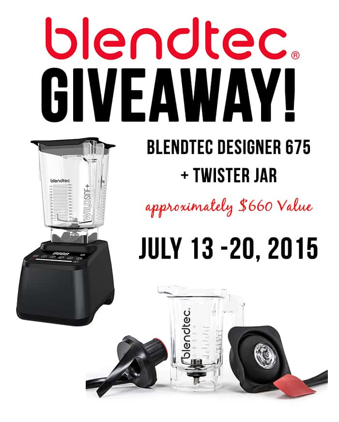 blendtec giveaway july 2015