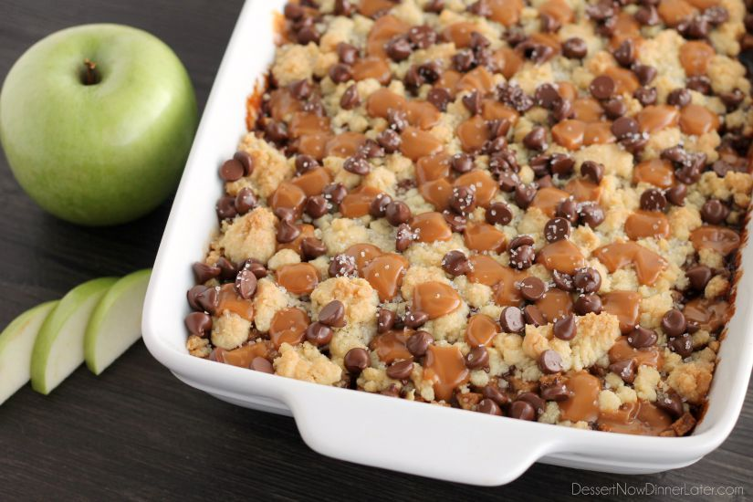 Chocolate caramel apple crumb bars dessert now dinner later chocolate caramel apple crumb bars these dessert bars have a buttery crust and crumble on forumfinder Images