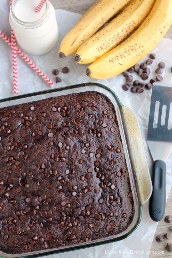 Double Chocolate Banana Cake is lightly sweet, moist, and chocolatey ...