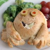 Froggy Chicken Salad Sandwiches are a fun, kid-friendly lunch made easy with Rhodes frozen dough.