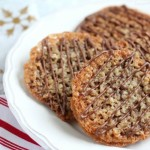 Oatmeal Lace Florentine Cookies