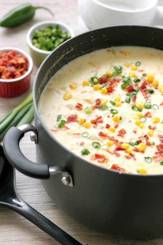 Corn chowder soup recipes no cream