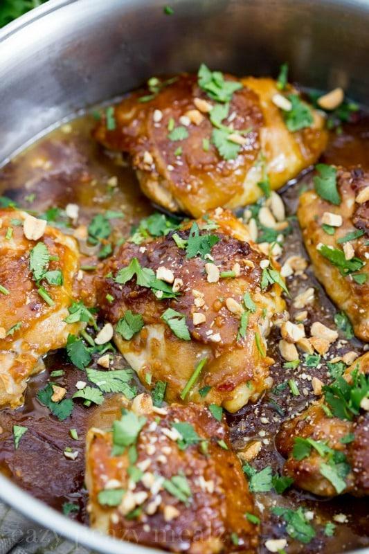 Thai Peanut Skillet Chicken via Eazy Peazy Mealz