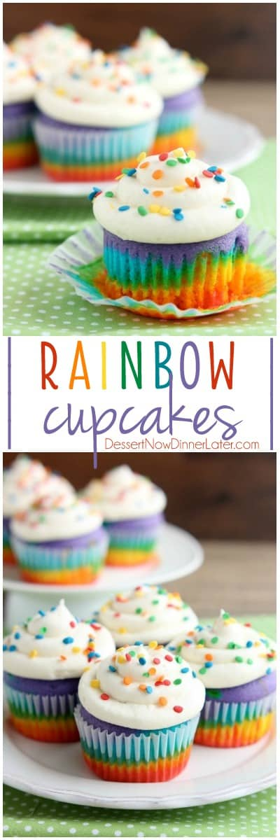 how to make two colored cupcakes