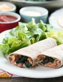 If you're craving a meatless meal that tastes great and fills you up, try this easy Spinach & Bean Burrito Wrap!